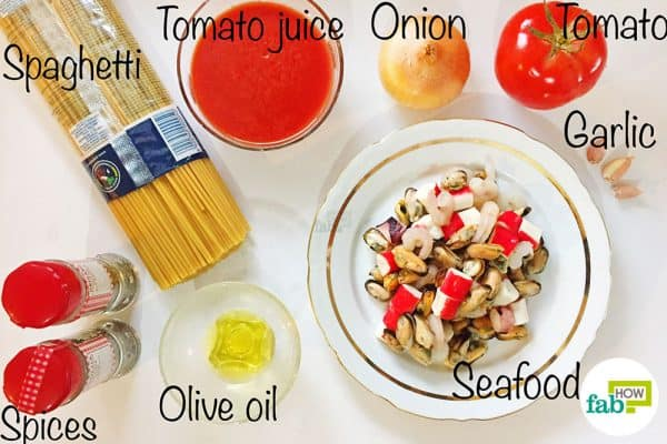 things you'll need to make seafood pasta