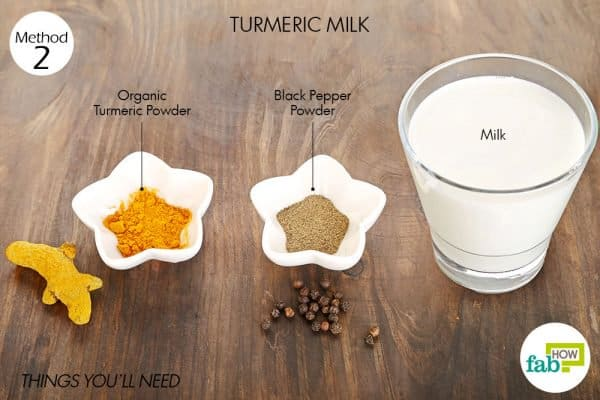 things you'll need to use turmeric milk for sore throat