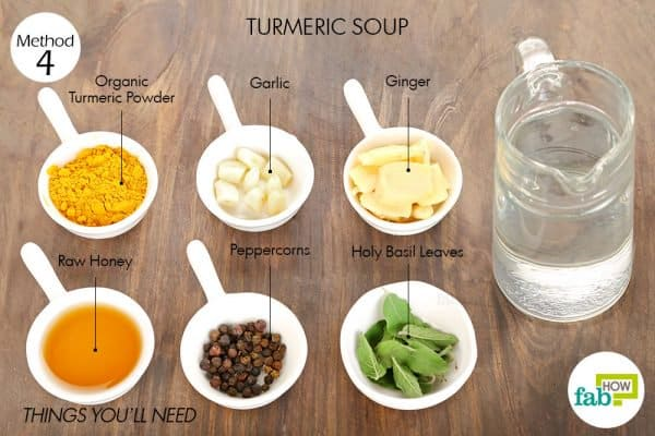 things you'll need to make soup to use turmeric for sore throat