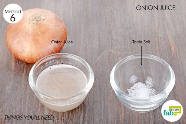 Things you'll need to use onion juice to treat vitiligo