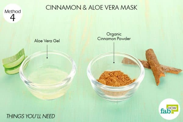 things you'll need to use cinnamon and aloe vera for acne