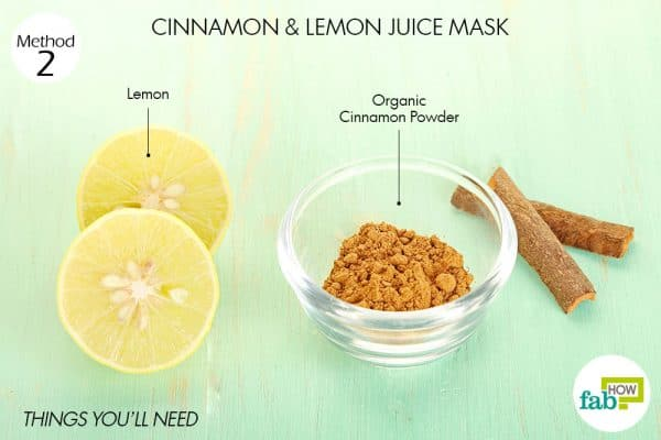 things you'll need to use cinnamon and lemon for acne