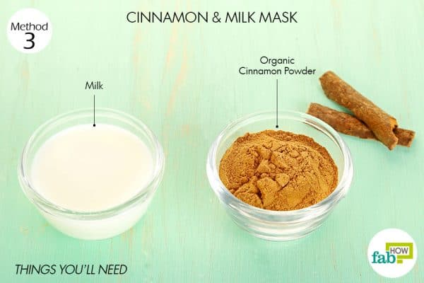 things you'll need to use cinnamon and milkfor acne