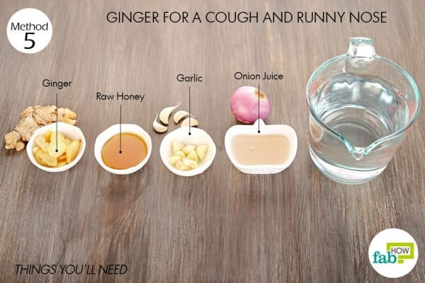 things you'll need to use ginger for cold or flu and runny nose