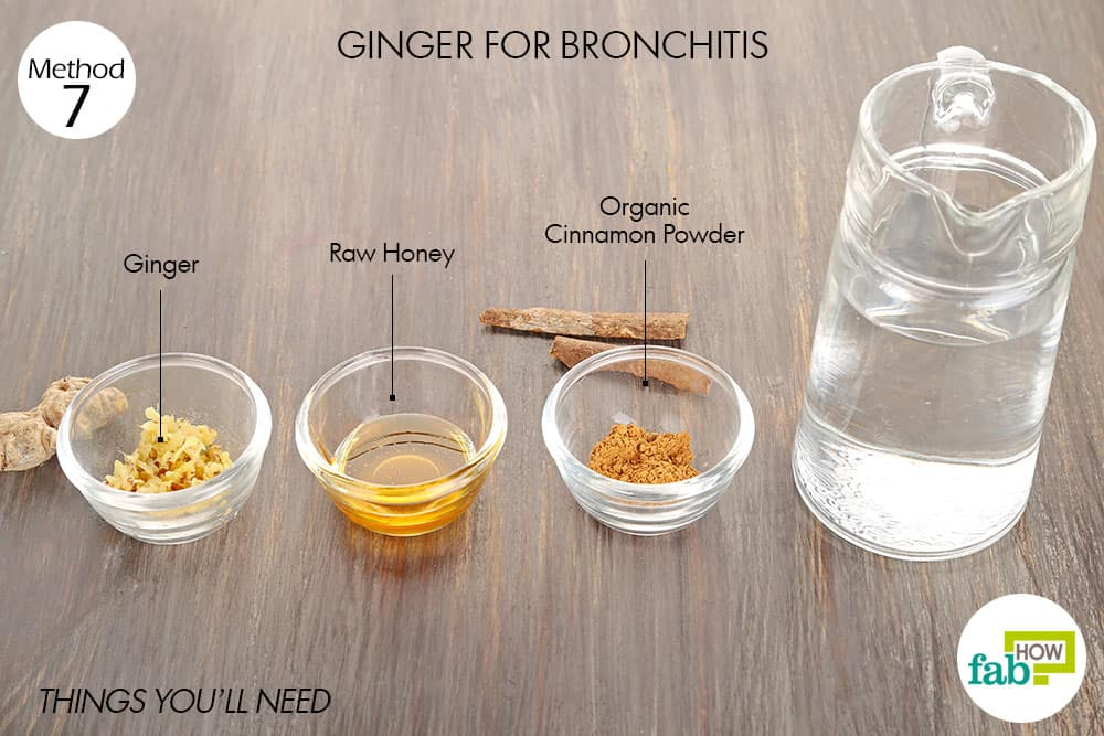 things you'll need to use ginger for cold or flu related bronchitis