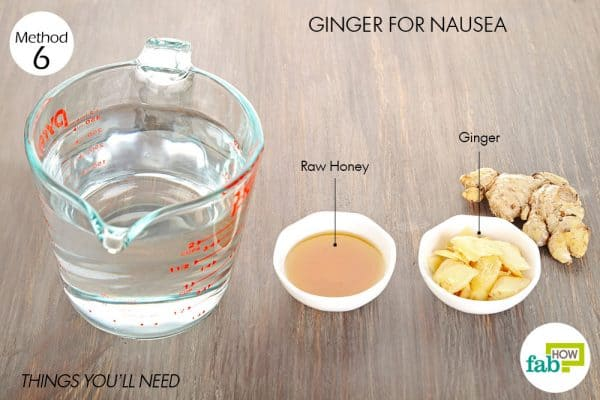 things you'll need to use ginger for cold or flu nausea
