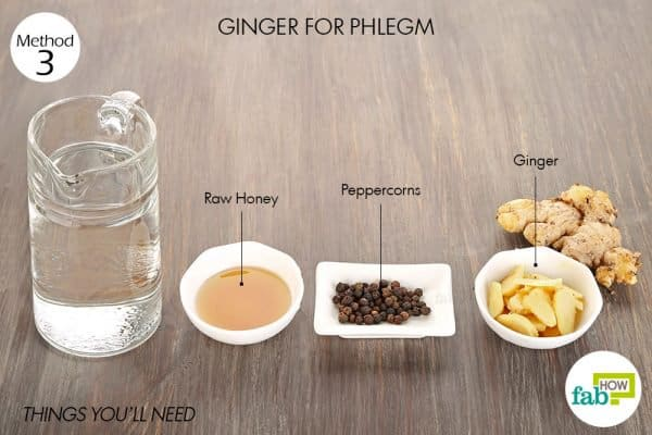 things you'll need to use ginger for cold or flu and phlegm