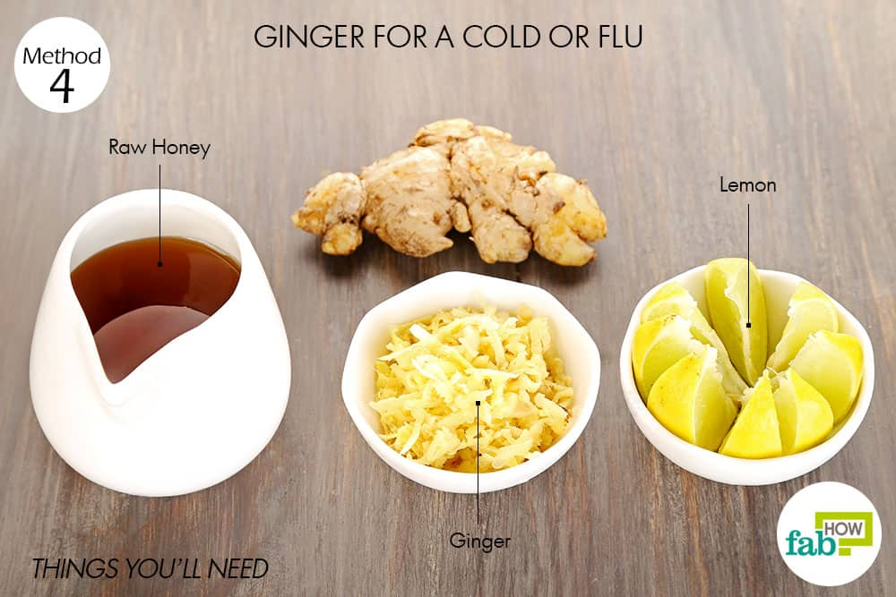 things you'll need to use ginger for cold or flu