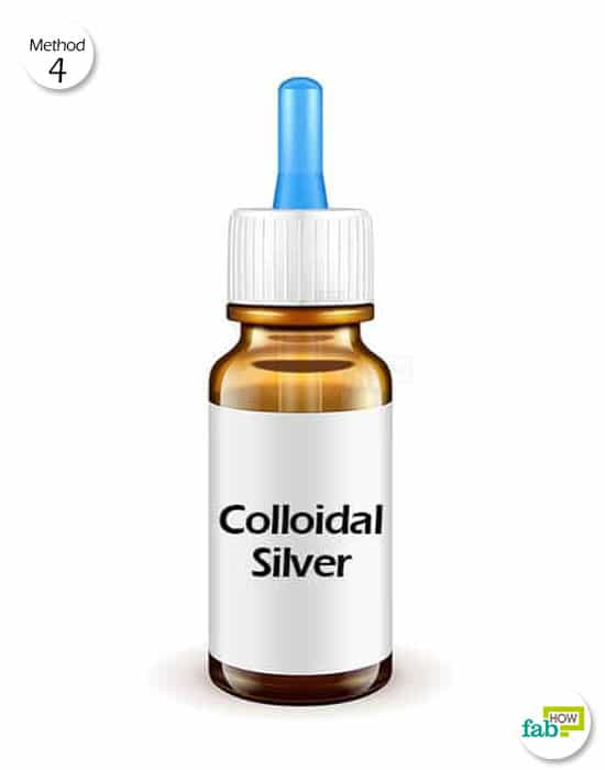 Consume standard colloidal silver solution daily to get rid of cellulitis