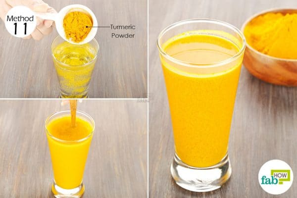 Use turmeric for health-drink turmeric in warm water to treat gastrointestinal diseases