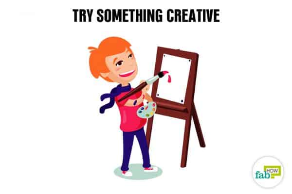 do something creative to cope with exam failure