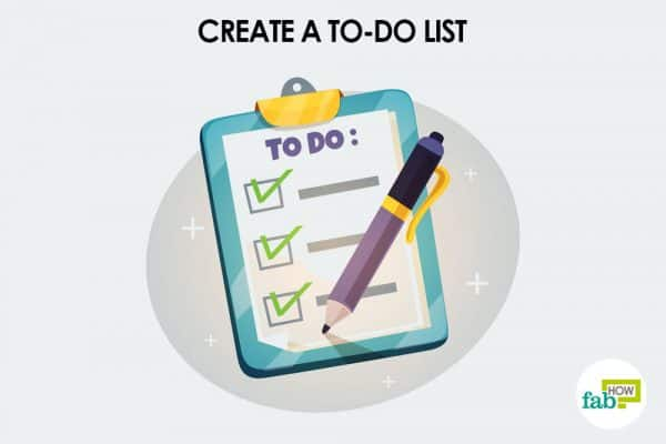 Create a to-do list to motivate yourself