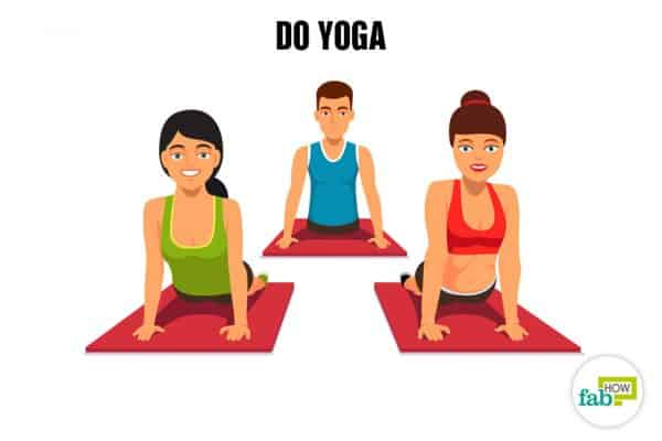 Do yoga to relax and de-stress your mind and body