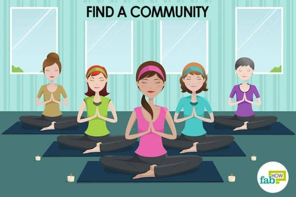 Find a community of people to start meditation for beginners