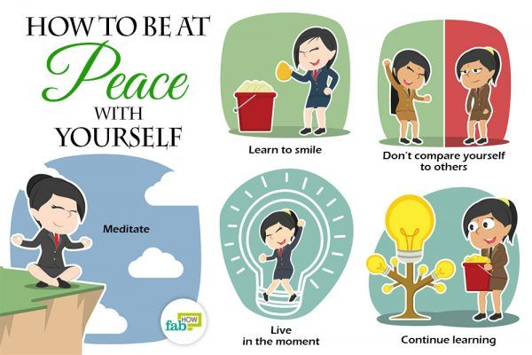 Follow these tips to be at peace with yourself