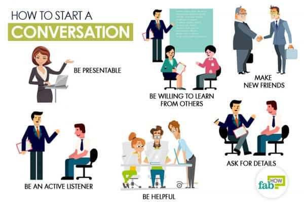 Follow these tips to start a conversation with anyone