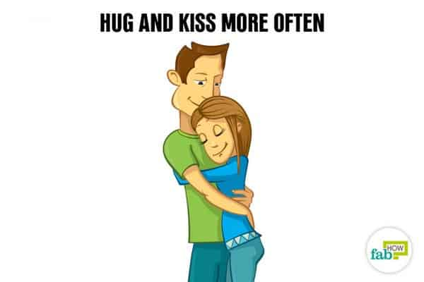 Hug and kiss to relax and de-stress your mind and body