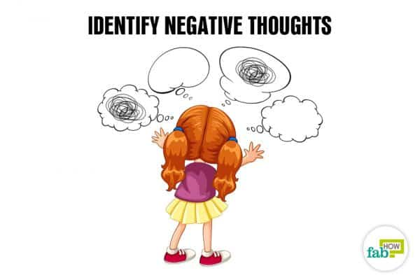 Identify negative thoughts to cope with exam failure
