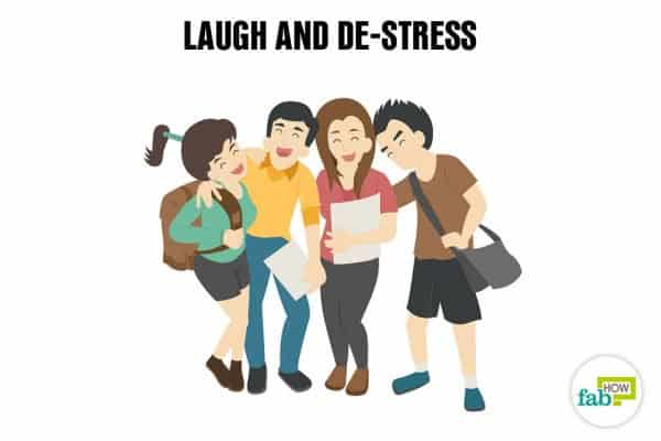 Laugh to relax and de-stress your body and mind