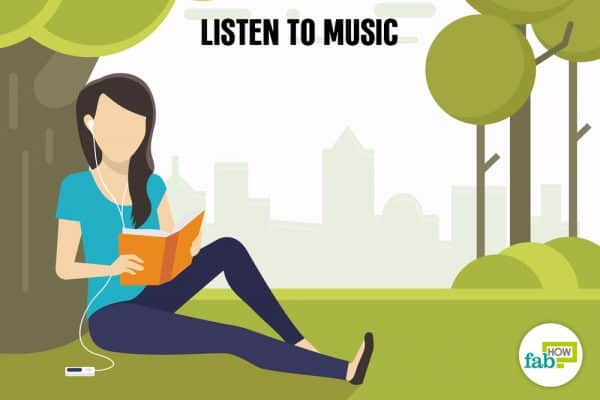 Listen to music to relax and de-stress your mind and body