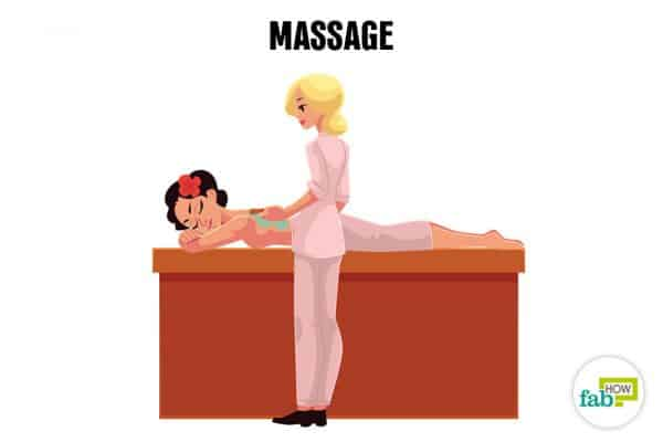 Get a massage to relax and de-stress your mind and body