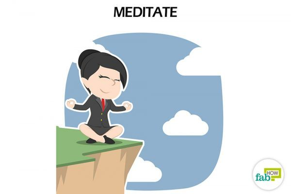 Meditate to be at peace with yourself