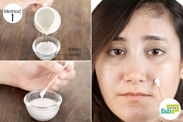 Add water in baking soda for acne
