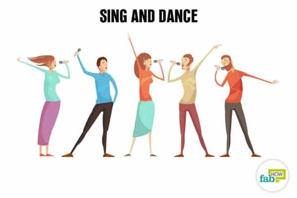 Sing and dance to relax and de-stress your mind and body