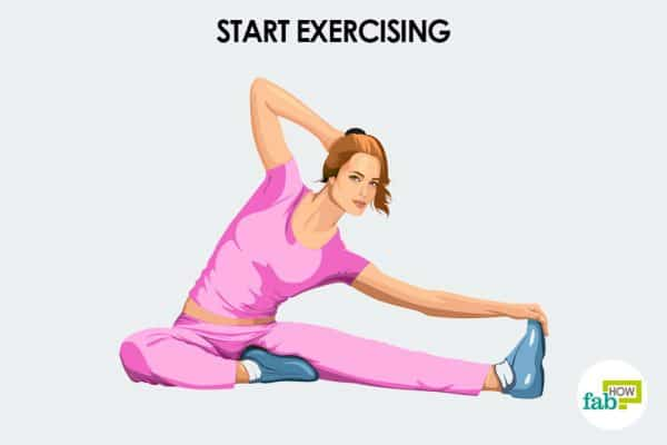 Start exercising to motivate yourself
