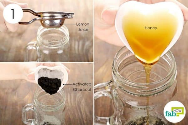 Mix activated charcoal, lemon juice, and honey to use activated charcoal for health