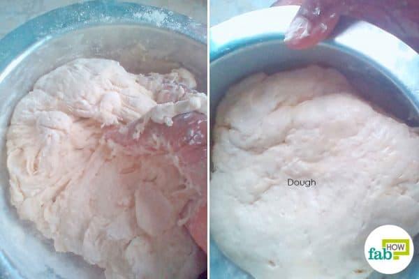 Prepare the dough to make Kenyan beef samosas