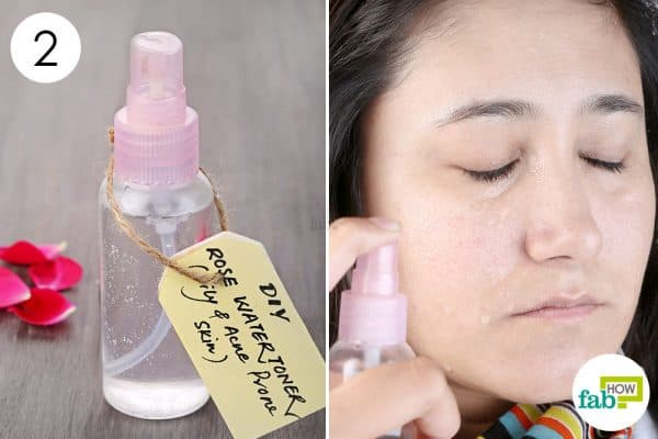 Spritz DIY facial toner your face to get rid of acne