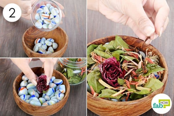 Arrange your potpourri and use it as a DIY air freshener