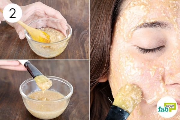 Mix well, apply and scrub face mask for beautiful skin