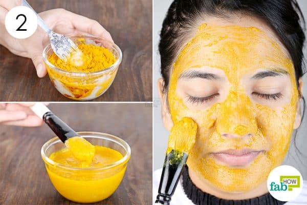 Apply the face mask for beautiful skin