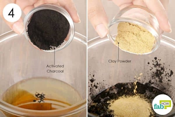 Finally, add activated charcoal and clay powder to use activated charcoal for health