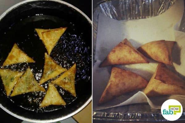 Deep-fry to make Kenyan beef samosas