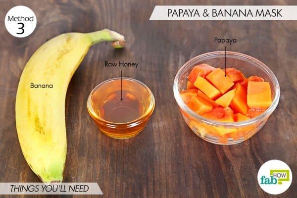 things you'll need to make papaya face mask for beautiful skin