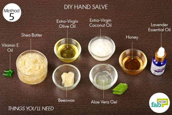 Things needed to use vitamin E oil to make DIY hand salve