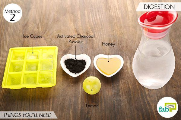Things needed to use activated charcoal for health-to aid digestion