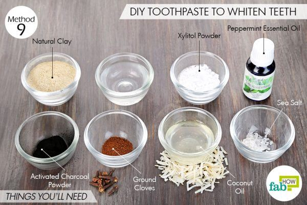 Things needed to use activated charcoal for health-to whiten teeth