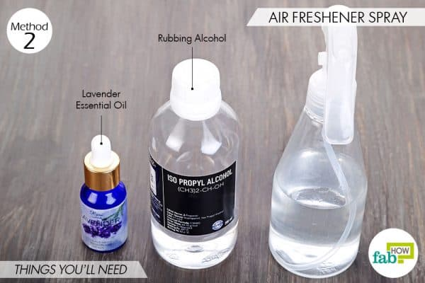 Things needed to make air freshener spray