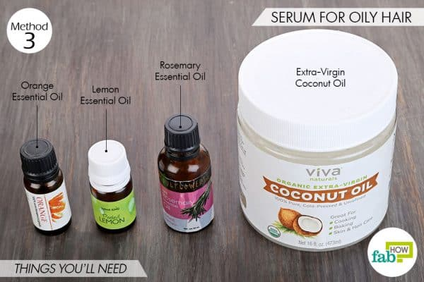 Things needed to make DIY hair serum for oily hair