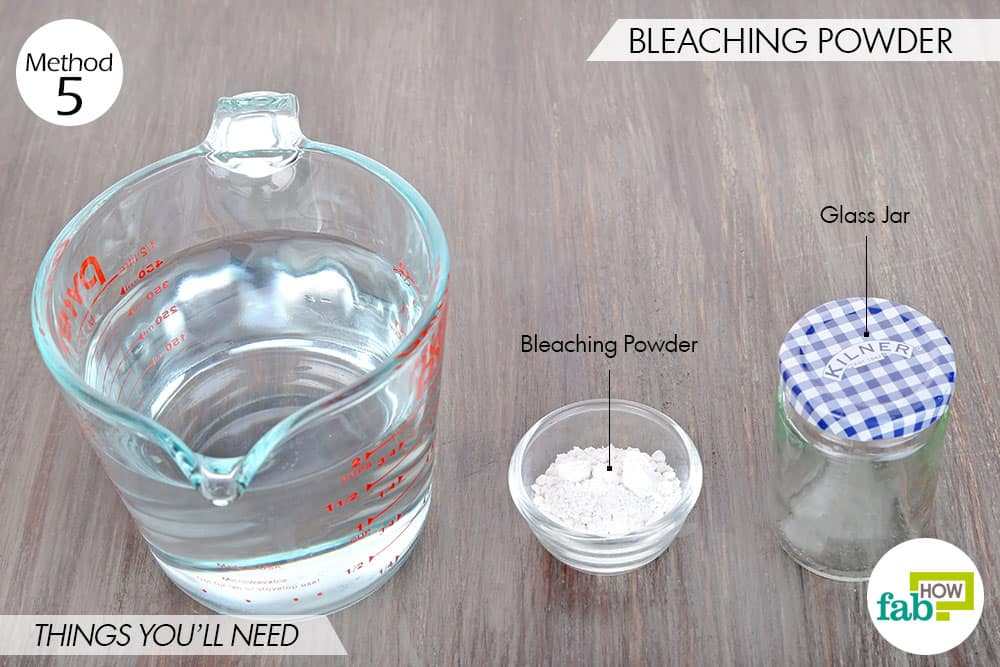 sterilisation of water using bleaching powder Bleaching powder (chlorinated lime) and sodium hypochlorite of different  commercial  in clear water 05-10mg/1 of free residual chlorine should ensure  sterilization  cylinders or drums and injected into the water through a  chlorinator.