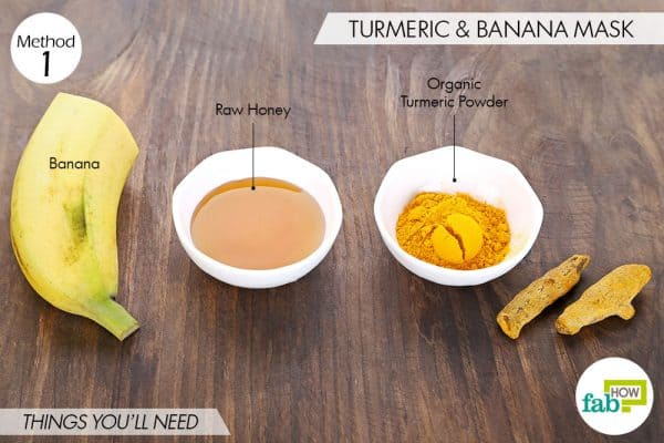 things you'll need to make turmeric face mask for beautiful skin