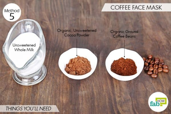 things you'll need to make coffee face mask for beautiful skin