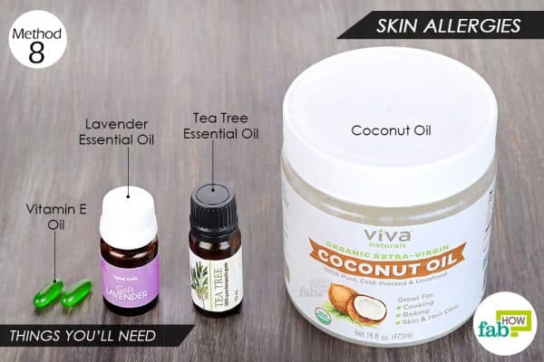 Use vitamin E oil to get rid of skin allergies