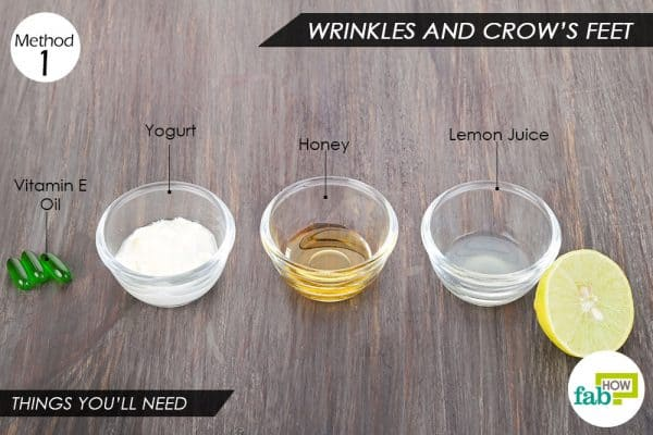 Things needed to use vitamin E oil for wrinkles and crow's feet