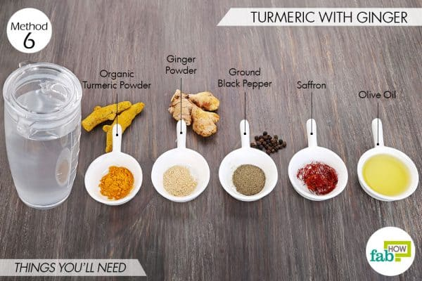 Things needed to use turmeric for psoriasis with ginger