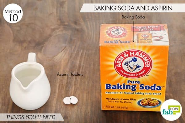 Things you'll need to use aspirin and baking soda for acne